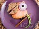 Рецепта Детски сандвич Щастливият папагал